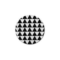 Triangle2 Black Marble & White Leather Golf Ball Marker (10 Pack)