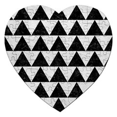 Triangle2 Black Marble & White Leather Jigsaw Puzzle (heart)