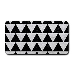 Triangle2 Black Marble & White Leather Medium Bar Mats
