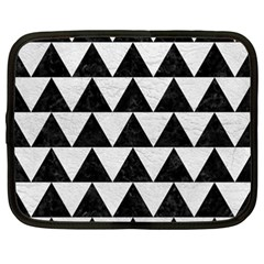 Triangle2 Black Marble & White Leather Netbook Case (xxl)