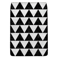 Triangle2 Black Marble & White Leather Flap Covers (l)