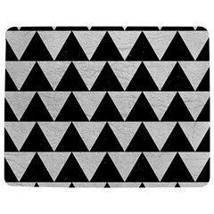 Triangle2 Black Marble & White Leather Jigsaw Puzzle Photo Stand (rectangular)