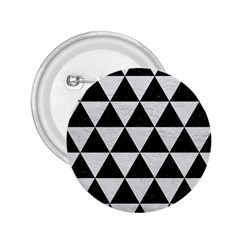 Triangle3 Black Marble & White Leather 2 25  Buttons