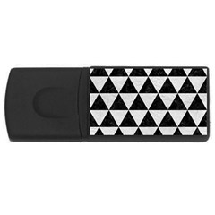 Triangle3 Black Marble & White Leather Rectangular Usb Flash Drive