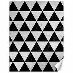 Triangle3 Black Marble & White Leather Canvas 12  X 16