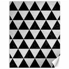 Triangle3 Black Marble & White Leather Canvas 36  X 48