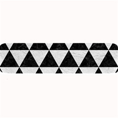 Triangle3 Black Marble & White Leather Large Bar Mats