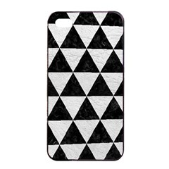 Triangle3 Black Marble & White Leather Apple Iphone 4/4s Seamless Case (black)