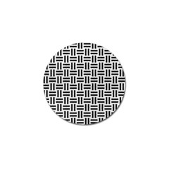 Woven1 Black Marble & White Leather Golf Ball Marker (10 Pack)