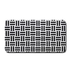 Woven1 Black Marble & White Leather Medium Bar Mats