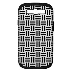 Woven1 Black Marble & White Leather Samsung Galaxy S Iii Hardshell Case (pc+silicone)