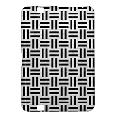 Woven1 Black Marble & White Leather Kindle Fire Hd 8 9
