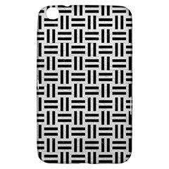 Woven1 Black Marble & White Leather Samsung Galaxy Tab 3 (8 ) T3100 Hardshell Case