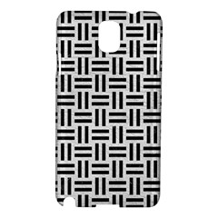 Woven1 Black Marble & White Leather Samsung Galaxy Note 3 N9005 Hardshell Case