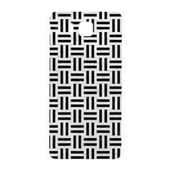 Woven1 Black Marble & White Leather Samsung Galaxy Alpha Hardshell Back Case