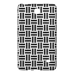 Woven1 Black Marble & White Leather Samsung Galaxy Tab 4 (7 ) Hardshell Case