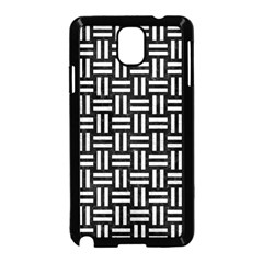 Woven1 Black Marble & White Leather (r) Samsung Galaxy Note 3 Neo Hardshell Case (black)