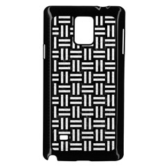 Woven1 Black Marble & White Leather (r) Samsung Galaxy Note 4 Case (black)