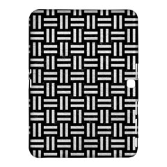 Woven1 Black Marble & White Leather (r) Samsung Galaxy Tab 4 (10 1 ) Hardshell Case