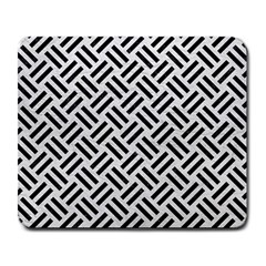Woven2 Black Marble & White Leather Large Mousepads