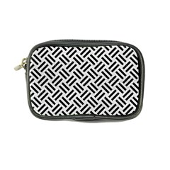 Woven2 Black Marble & White Leather Coin Purse