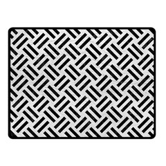 Woven2 Black Marble & White Leather Fleece Blanket (small)