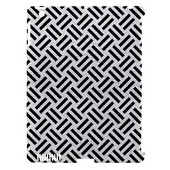 Woven2 Black Marble & White Leather Apple Ipad 3/4 Hardshell Case (compatible With Smart Cover)
