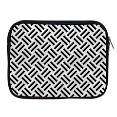 Woven2 Black Marble & White Leather Apple Ipad 2/3/4 Zipper Cases