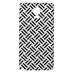 Woven2 Black Marble & White Leather Galaxy Note 4 Back Case