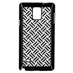 Woven2 Black Marble & White Leather Samsung Galaxy Note 4 Case (black)