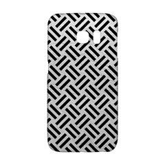 Woven2 Black Marble & White Leather Galaxy S6 Edge