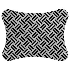 Woven2 Black Marble & White Leather Jigsaw Puzzle Photo Stand (bow)