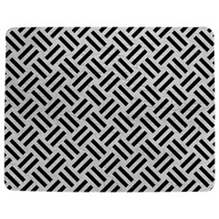 Woven2 Black Marble & White Leather Jigsaw Puzzle Photo Stand (rectangular)
