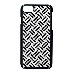 Woven2 Black Marble & White Leather Apple Iphone 8 Seamless Case (black)