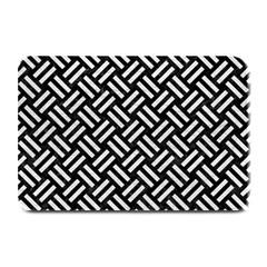 Woven2 Black Marble & White Leather (r) Plate Mats