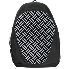 Woven2 Black Marble & White Leather (r) Backpack Bag