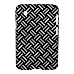 Woven2 Black Marble & White Leather (r) Samsung Galaxy Tab 2 (7 ) P3100 Hardshell Case