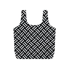 Woven2 Black Marble & White Leather (r) Full Print Recycle Bags (s)