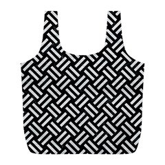 Woven2 Black Marble & White Leather (r) Full Print Recycle Bags (l)