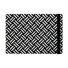 Woven2 Black Marble & White Leather (r) Ipad Mini 2 Flip Cases