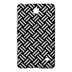 Woven2 Black Marble & White Leather (r) Samsung Galaxy Tab 4 (8 ) Hardshell Case