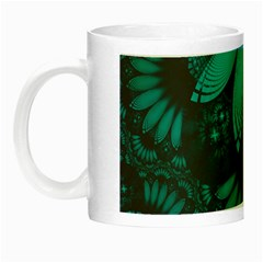 Beautiful Teal And Orange Paisley Fractal Feathers Night Luminous Mugs