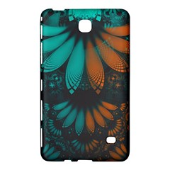 Beautiful Teal And Orange Paisley Fractal Feathers Samsung Galaxy Tab 4 (8 ) Hardshell Case