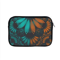 Beautiful Teal And Orange Paisley Fractal Feathers Apple Macbook Pro 15  Zipper Case