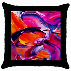 Abstract Acryl Art Throw Pillow Case (black)