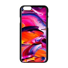 Abstract Acryl Art Apple Iphone 6/6s Black Enamel Case