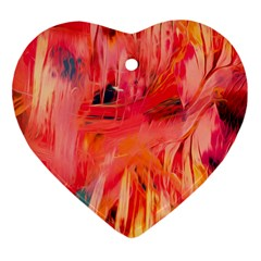 Abstract Acryl Art Heart Ornament (two Sides)