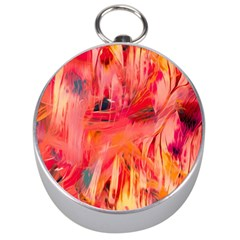 Abstract Acryl Art Silver Compasses