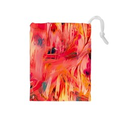 Abstract Acryl Art Drawstring Pouches (medium)