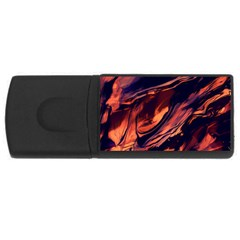 Abstract Acryl Art Rectangular Usb Flash Drive